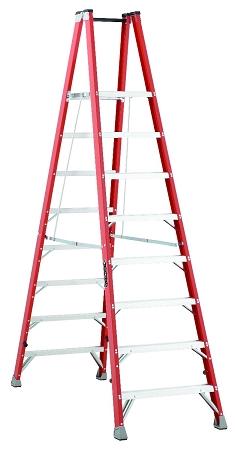 Louisville Fiberglass Twin Front Platform Ladder 8' 300lbs. Capacity