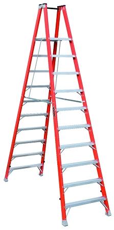 Louisville Fiberglass Twin Front Platform Ladder 10' 300lbs. Capacity