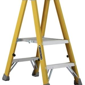 Louisville Fiberglass Twin Front Platform Ladder 2' 250lbs. Capacity