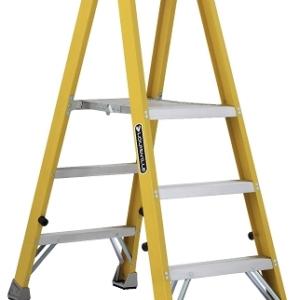 Louisville Fiberglass Twin Front Platform Ladder 3' 250lbs. Capacity