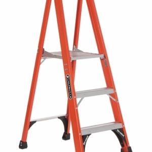 Louisville Fiberglass Platform Ladder 3' 375lbs. Capacity
