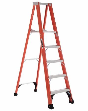 Louisville Fiberglass Platform Ladder 5' 375lbs. Capacity