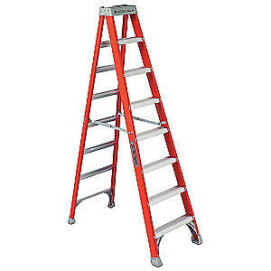 Louisville 8' Fiberglass Step Ladder 300lb. Rated