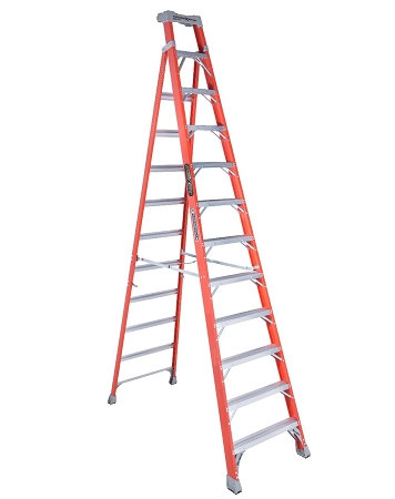 Louisville Step to Shelf Ladder 12' 300lbs. Capacity