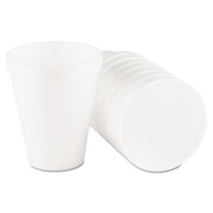 Foam Drink Cups, 10oz, White