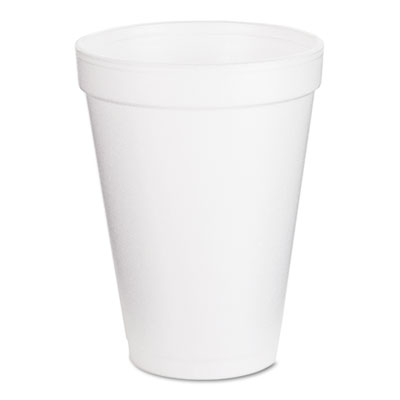 Foam Drink Cups, 12oz, White