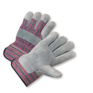 Standard Split Cowhide Palm Rubberized Cuff Gloves, Dozen