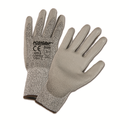 Gray PU Palm Coated Speckle Gray HPPE Gloves, Dozen