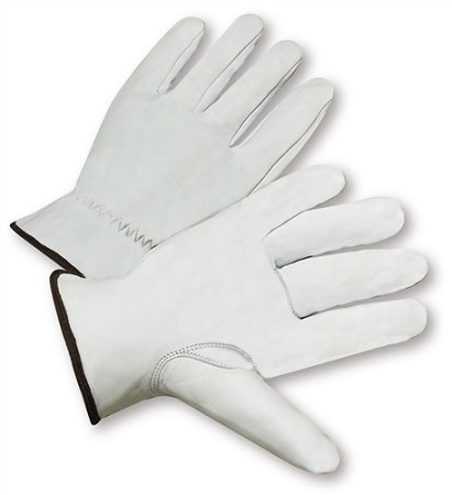 Standard Grain Goatskin Leather Driver Gloves, Dozen