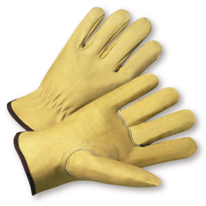 Select Grain Pigskin Leather Driver Gloves, Dozen