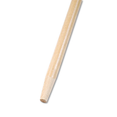 Tapered End Broom Handle, Lacquered Hardwood