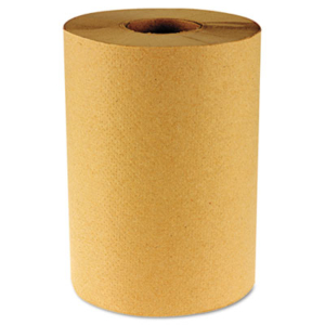 Hardwound Paper Towels, Nonperforated 1-Ply Natural