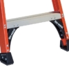 Louisville Fiberglass Pro Platform Ladder 2' 375lbs. Capacity