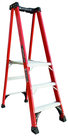 Louisville Fiberglass Pro Platform Ladder 3' 375lbs. Capacity