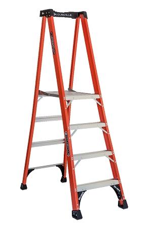 Louisville Fiberglass Pro Platform Ladder 4' 375lbs. Capacity