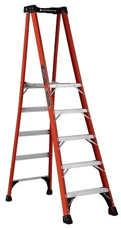 Louisville Fiberglass Pro Platform Ladder 5' 375lbs. Capacity