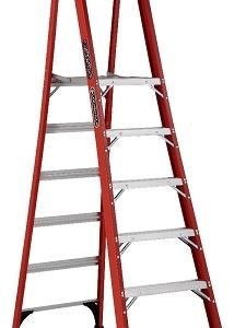 Louisville Fiberglass Pro Platform Ladder 6' 375lbs. Capacity