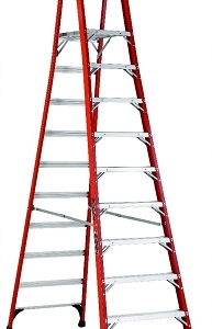 Louisville Fiberglass Pro Platform Ladder 10' 375lbs. Capacity