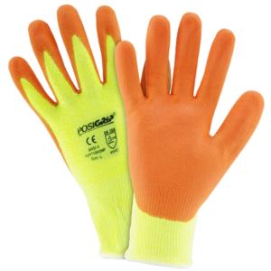 Hi Vis Yellow HPPE Orange Foam Nitrile Palm Coated Gloves, Dozen