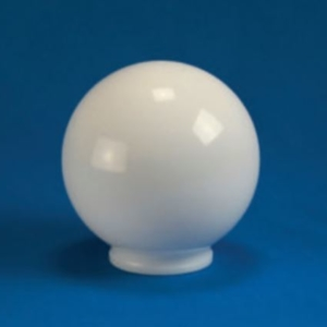 "Smooth Acrylic White Sphere DIA- 6"" ID- 2.81"" OD- 3.14"" (Fitter Neck)"