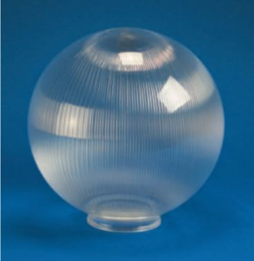 "Prismatic Acrylic Clear Sphere DIA- 20"" ID- 5.06"" OD- 5.91"" (Fitter Neck)"