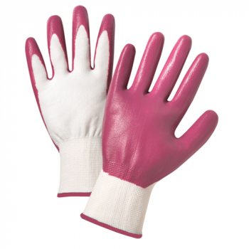 Ladies Nitrile Coated Nylon Shell Gloves, Dozen