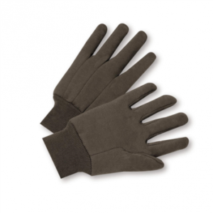 Ladies Brown Jersey Gloves, Dozen
