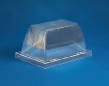 "Acrylic Clear Security Enclosure H- 4.00"" W- 5.35"" L- 7.66"""