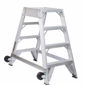 Louisville 4' Aluminum Twin Front Rolling Ladder