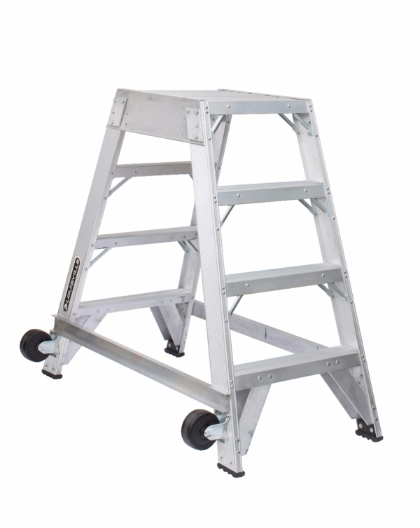 Louisville 4' Aluminum Twin Front Rolling Ladder