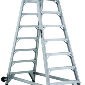 Louisville 8' Aluminum Twin Front Rolling Ladder