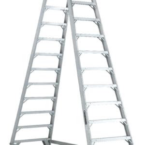 Louisville 12' Aluminum Twin Front Rolling Ladder