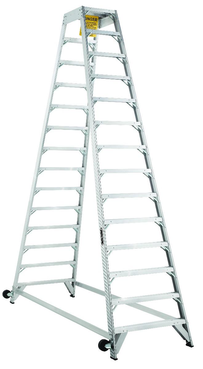 Louisville 14' Aluminum Twin Front Rolling Ladder
