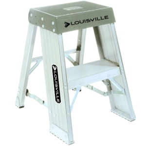 Louisville 2' Aluminum Industrial Step Stool 300lbs. Capacity