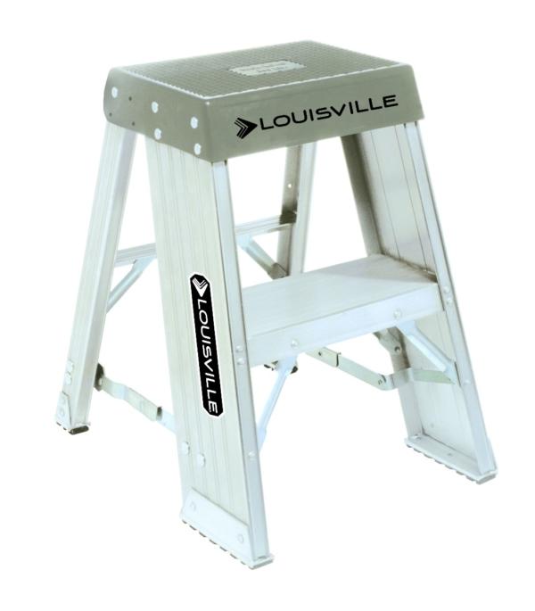 Louisville 2' Aluminum Industrial Step Stool 300lbs. Capacity
