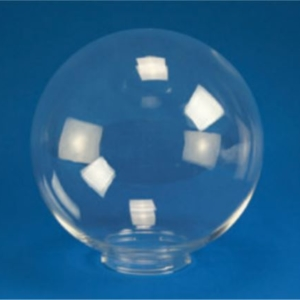 "Smooth Acrylic Clear Sphere DIA- 6"" ID- 2.81"" OD- 3.24"" (Screw Neck)"