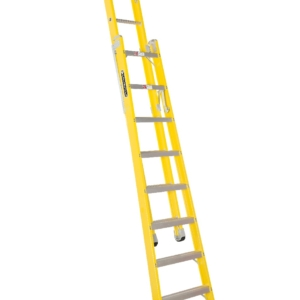 Louisville 8' Fiberglass Step to Straight Ladder 375lb. Capacity
