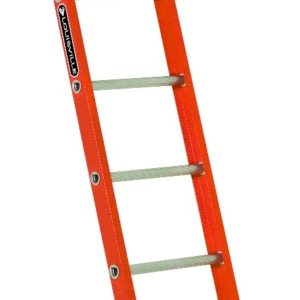 Louisville 8' Fiberglass Single Ladder 300lbs. Capacity