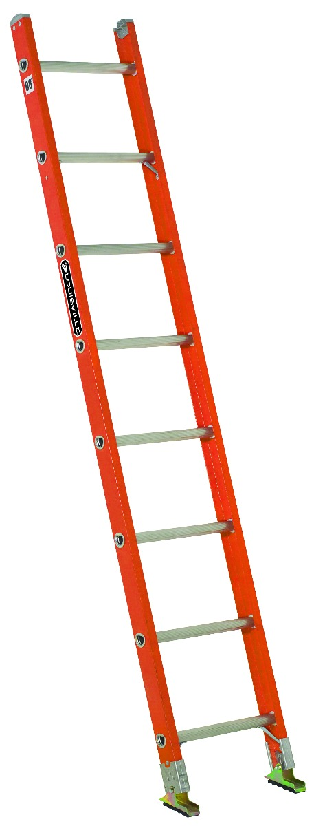 Louisville 8' Fiberglass Single Ladder 300lbs. Capacity