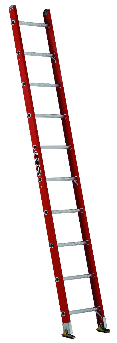 Louisville 10' Fiberglass Single Ladder 300lbs. Capacity