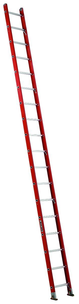 Louisville 18' Fiberglass Single Ladder 300lbs. Capacity