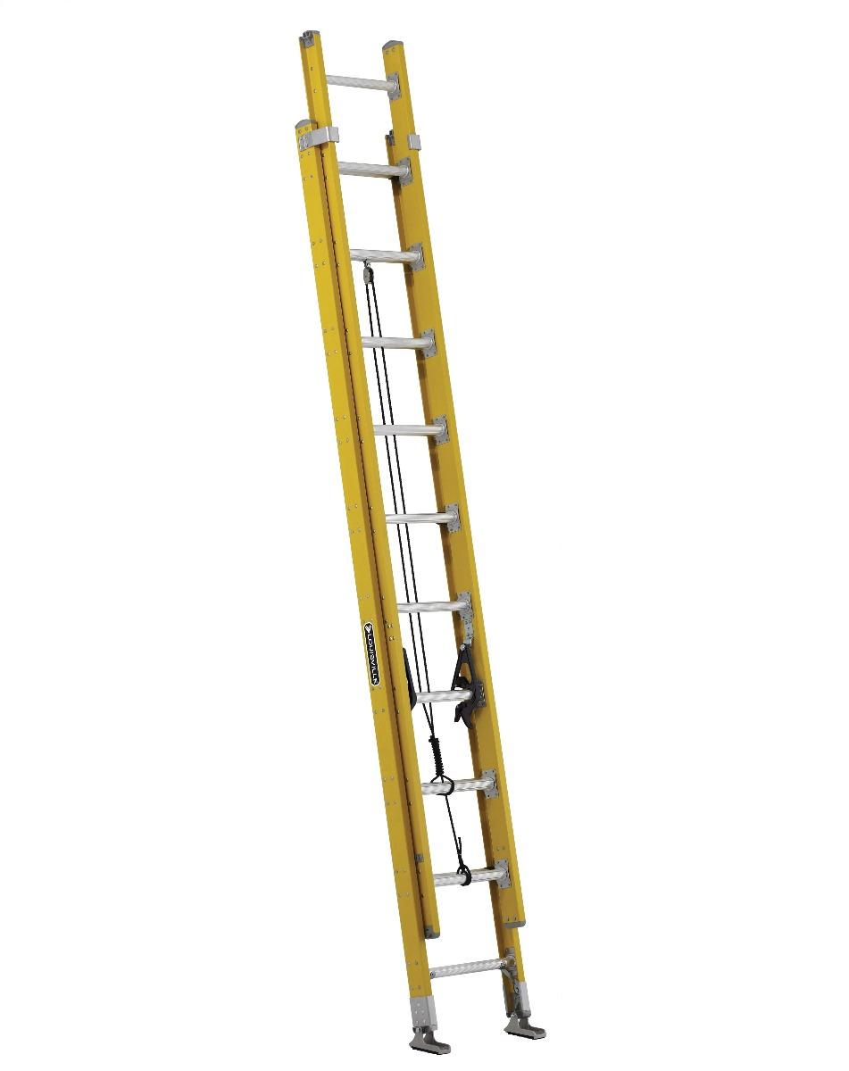 Louisville 20' Fiberglass Extension Ladder 375lbs. Capacity