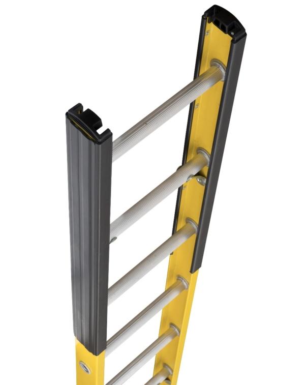 Louisville 20' Fiberglass Extension Single Manhole Ladder 375lbs. Capacity