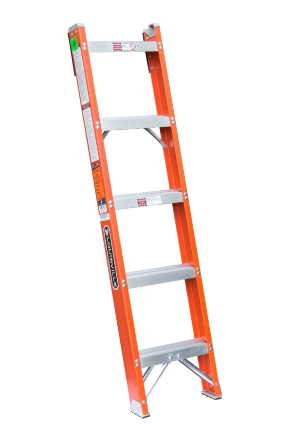 Louisville 5' Fiberglass Shelf Ladder 300lbs. Capacity