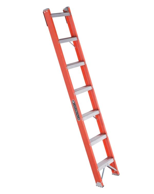 Louisville 7' Fiberglass Shelf Ladder 300lbs. Capacity