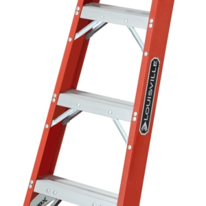 Fiberglass 4' Pro Shelf Ladder 300lb. Capacity