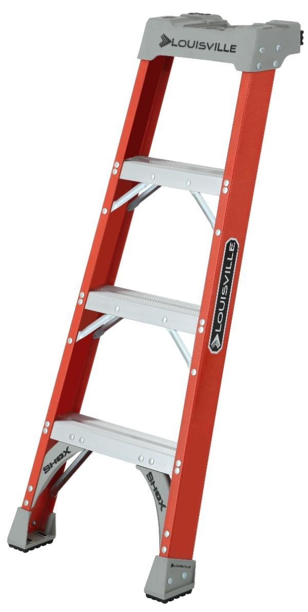 Fiberglass 4' Pro Shelf Ladder 300lb. Capacity