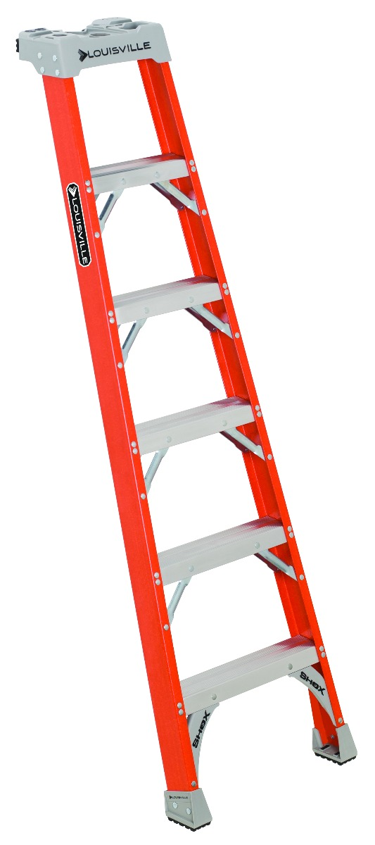 Louisville 6' Fiberglass Pro Shelf Ladder 300lbs. Capacity