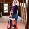 Louisville 2' Fiberglass Pro Platform Ladder