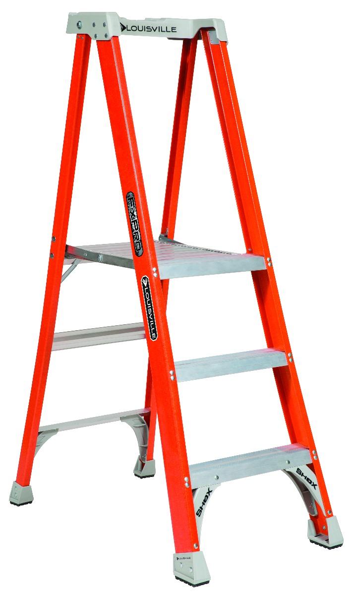 Louisville 3' Fiberglass Pro Platform Ladder 300lbs. Capacity